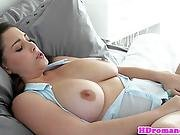 Bigtitted Girlfriend Titfucked By Her Man