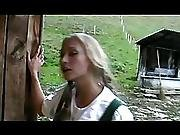 Two Young German Girls Fucking In A Barn