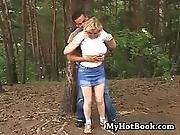 big boob,  blonde,  boob,  cumshot,  facial,  fucking,  outdoor,  teen