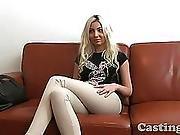 Castingxxx Cute Blonde Angel Covered In Spunk