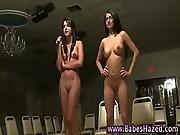College teen pledges stripping