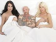 Classy Tgirls Aubrey And Chanel In A Threesome Fuck
