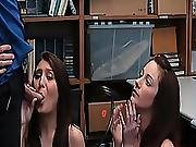 Jojo Kiss And Rylee Renee Gives The Lp Officer A Blowjob
