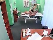 Doctor Fucks Blond Beauty In Office