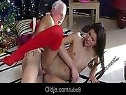 Young Pussy Christmas Gift For An Old Man