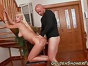 Pee Drenched Babe Spunked