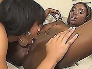 Two Magnificent Ebony Lesbians Take Care Of Each Other Vaginas With Thier Tongues