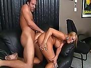 Blonde MILF smoking pole