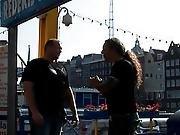 Amsterdam Prostitute Handling Cum In Face Hole