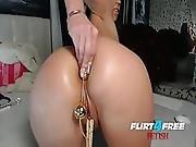 Millana Displays Her Mad Anal Play Fetish Skills