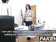 Female Agent Rides Hot Models Tongue And Fucks Her