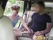 Short Hair Brunette Babe Sasha Riding And Sucking Cock