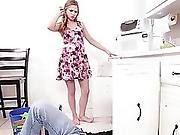 Sydney A Blonde Teen Gets Fucked Hard By A Plumber