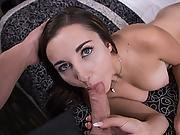 Busty Brunette Teen Pleases Cock At Pov Audition