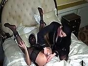 amateur,  anal,  brunette,  double fisting,  extreme,  fisting,  lesbian,  stocking,  toys