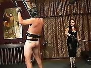 bdsm,  chained,  dominatrix,  femdom,  leather,  petite,  redhead,  tied,  whip