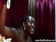 African prostitute gets her pussy licked