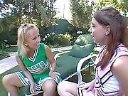 Two 18 Years Old Teen Cheerleader Whores Fucked By Dirty Old Man