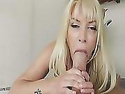 Cock Loving Milf With Tattoos Giving A Hard Pov Deepthroat To A Big Cocked Stud!