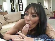 Inked Milf Tittyfucking Hard Dick In Pov