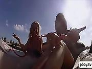 Three Hot Playmates Naked Water Gliding
