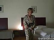 Two Robbers Bang Lonely Mature Widow