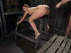 Slut Squirting All Over The Place While Being Fucked Like A Slave