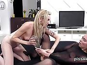 Ideal Sweetie Is Geeting Peed On And Squirts Wet Cunt