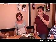 Sexy Japanese Babe Drinking In A Bar Gets Fucked In Gan