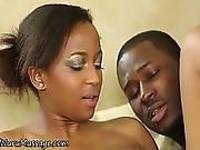 Ebony Masseuse Cum Soaked
