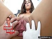 aged,  czech,  doctor,  european,  examination,  medical,  pussy,  spreading,  young