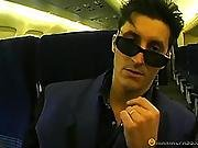 In An Empty Airplane Licking Pussy Brunette