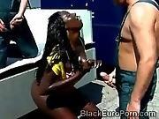 Stunning Black Goddess Addicted To Urine Finds Some In The Street
