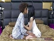 Luna Corazon And Rina Ellis Have Interracial Lesbian Sex