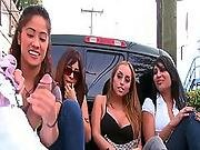 Imbecilic Females Give The Dick Suck Well Inside The A Street Inside Tv Exhibit