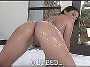 Exotic Sweetheart Violet Starr Lubes Up Her Body With Cum