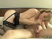 Busty Milf Got Her Tits Cum Covered