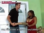 Ebony BBW Has Hot Sex With Pizza Boy