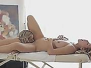 Two Adorable Lesbian Teen Catania And Luna Having Nice Sex After Massage