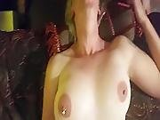 Deep Throating Geek Girl Gets Gagging Face Fuck And Swallows