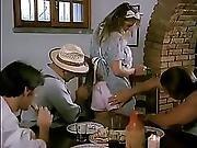 French Waitress Gangbanged...f70