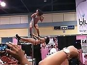 acrobatic,  amateur,  black,  ebony,  stripper