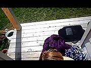 amateur,  backyard,  blowjob,  outdoor