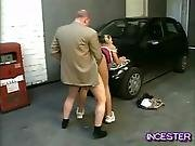 Dad Fucks Daughter In Garage
