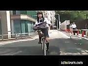 Azhotporn.com - Asian High School Girls Bicycle Pleasure
