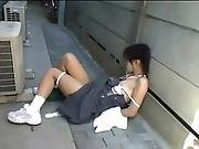 Japanese Schoolgirls 18 Abused In A Quiet Street