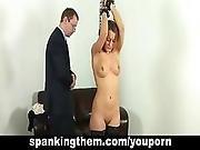 Busty Blonde Spanked Hard