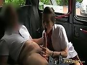 amateur,  blowjob,  fucking,  horny,  outdoor,  public,  stewardess,  stocking,  taxi