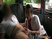 amateur,  blowjob,  fucking,  horny,  outdoor,  public,  stewardess,  stocking,  taxi