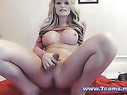 Horny Shemale Jerk Her Dick On Cam